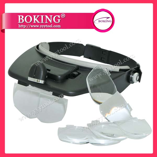 Light Head Magnifier Glass