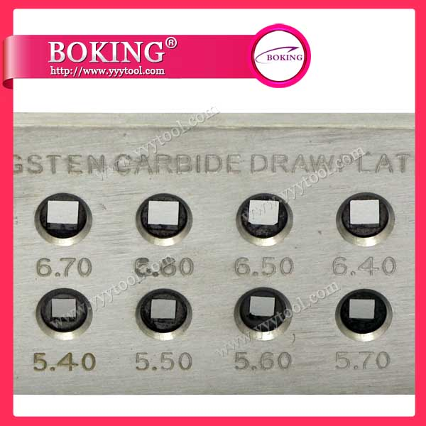 Rectangle Shape Tungsten Carbide Drawplate